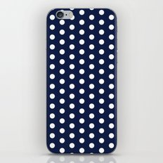Indigo Navy Blue Polka Dot iPhone Skin