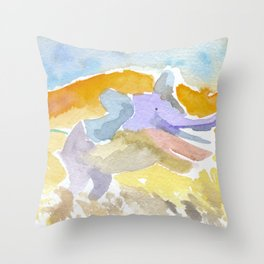 Magical Elephant Throw Pillow