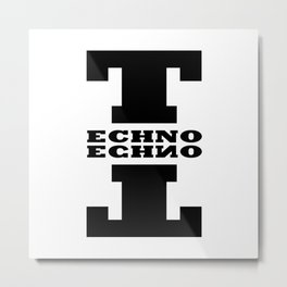 Techno Anagram Metal Print