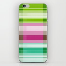 Colorful brush stripes iPhone Skin