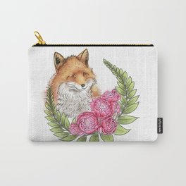 Fox in Bloom Carry-All Pouch