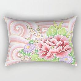 Pink Kimono Bouquet Rectangular Pillow