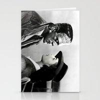 casablanca Stationery Cards featuring FRANKENSTEIN IN CASABLANCA by Luigi Tarini