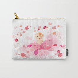Sweet minimalist dog sakura Carry-All Pouch