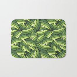 GREENERY LEAVES B  (abstract flowers nature) Bath Mat