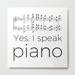 I speak piano Metal Print