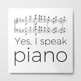 I speak piano Metal Print