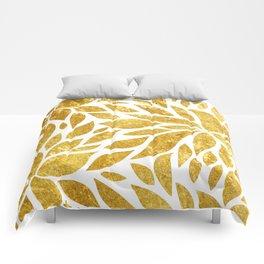 Golden Bloom Comforters