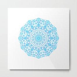 Mandala 12 / 4 eden spirit light blue turquoise Metal Print