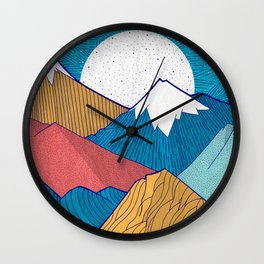 The Crosshatch Sky Wall Clock
