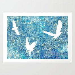 Ecotone (day) Art Print