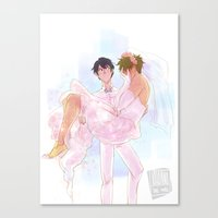 johannathemad Canvas Prints featuring they got married by JohannaTheMad