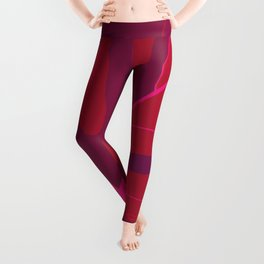 Only One Monstera Leaf in Red And Purple Colors #decor #society6 #buyart Leggings
