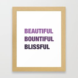 Daily mantra in purple Framed Art Print