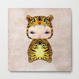 A Boy - Tiger Metal Print