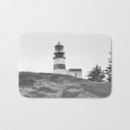 Cape Disappointment Pacific Ocean Washington Northwest Lighthouse Coast Guard Boats Gothic Architect Bath Mat