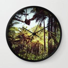 Sunlit Palm Wall Clock