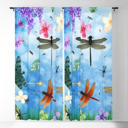 There Be Dragons - Dragonfly Fantasy Blackout Curtain