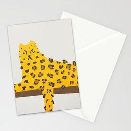 Leopard Lazy Stationery Cards