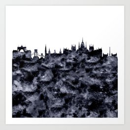 Budapest Hungary Skyline Art Print