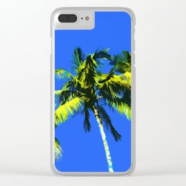 Palm Trees and Summer days Clear iPhone Case