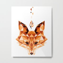 Crystal Fox Metal Print