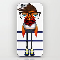 Hipster Bird iPhone & iPod Skin