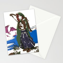 Ice savior screenprint Stationery Cards