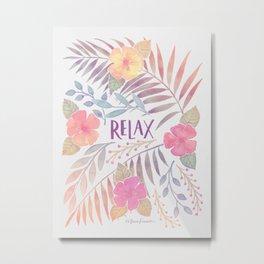 Relax - Sunset Hues Metal Print