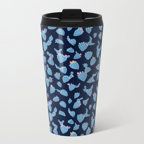 Flowering Cacti Metal Travel Mug