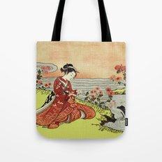 Transformation of Kikujido - Vintage Japanese Woodblock Tote Bag