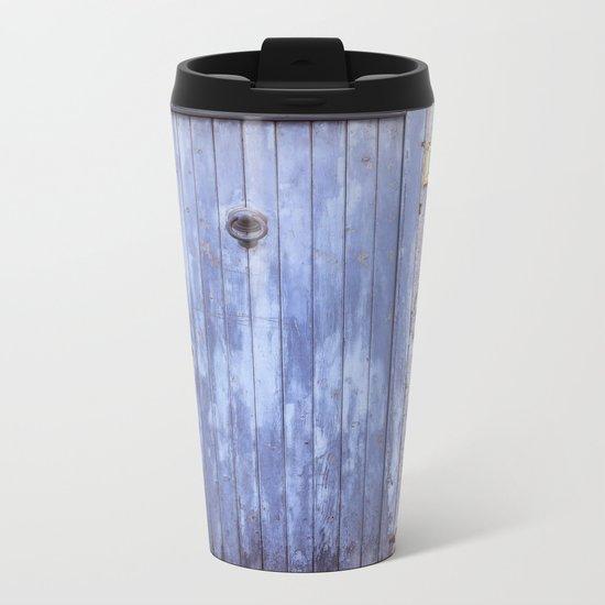 Old Blue Door Metal Travel Mug