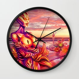 Last rays of sun Wall Clock