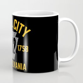 Pittsburgh Steel City 412 Keystone Pennsylvania Established Pride Coffee Mug