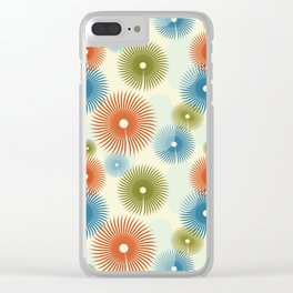 Retro Flower Pattern #society6 #buyart #decor Clear iPhone Case