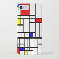 mondrian iPhone & iPod Cases featuring Mondrian inspired by Steve W Schwartz Art