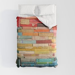 Colorful Book Stack Comforters