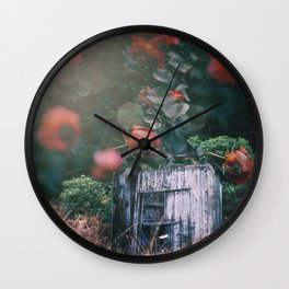 Abandoned Roses Wall Clock