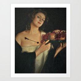 'Memory, The Heart' Portrait Painting Art Print