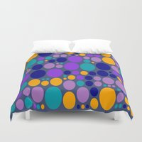 dots Duvet Covers featuring Dots by Aloke Design