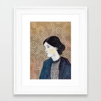 virginia Framed Art Prints featuring Virginia by Ninamasina