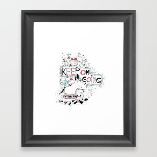 keep on going Framed Art Print