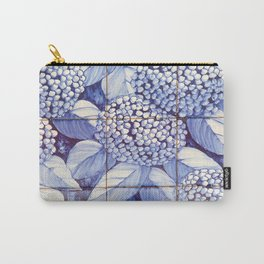 Floral tiles Carry-All Pouch