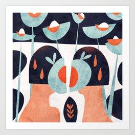 Amapola twins Art Print