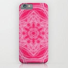 Elegant hot-pink kaleidoscopes iPhone Case
