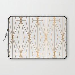 Gold Geometric Pattern Illustration Laptop Sleeve