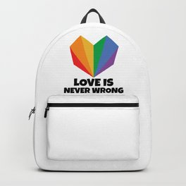Love is always right Backpack