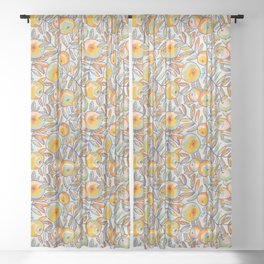 Bright apples Sheer Curtain