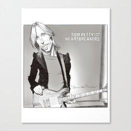 Tom Petty Caricature Canvas Print