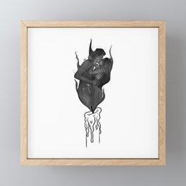 Twin flames. Framed Mini Art Print